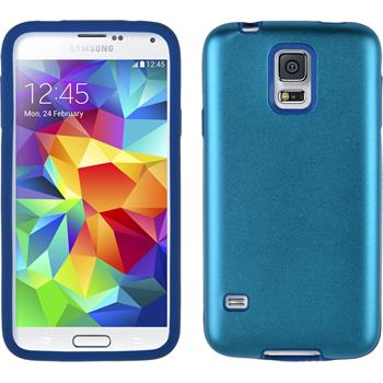 Hybrid Case for Samsung Galaxy S5 metallic light blue