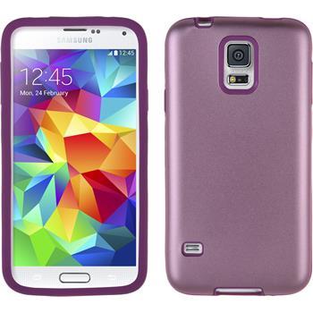 Hybridhülle für Samsung Galaxy S5 Metallic rosa