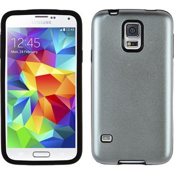 Hybrid Hülle Galaxy S5 Metallic silber