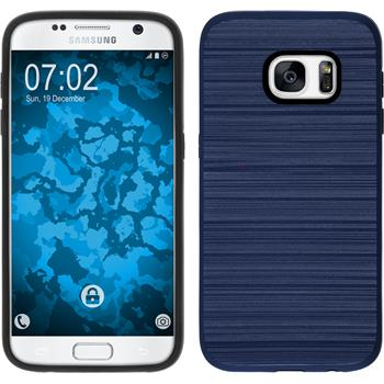 Hybrid Hülle Galaxy S7 brushed Case dunkelblau