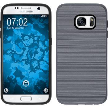 Hybrid Hülle Galaxy S7 brushed Case grau
