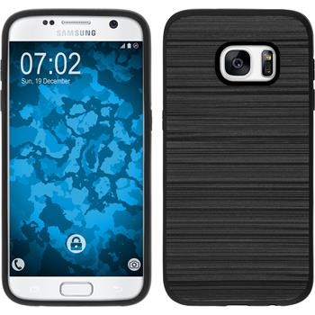 Hybrid Hülle Galaxy S7 brushed Case schwarz