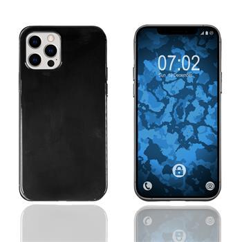 Silicone Case iPhone 12 Pro transparent black Cover