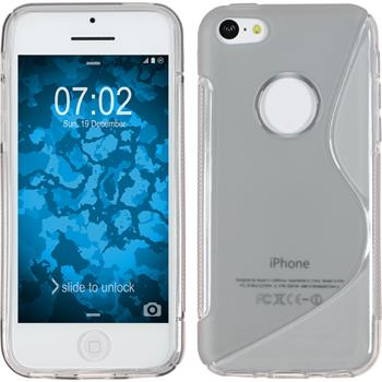 Silicone Case for Apple iPhone 5c S-Style logo gray