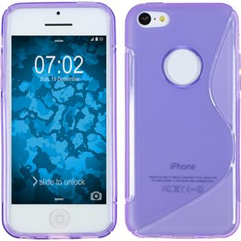 Silicone Case for Apple iPhone 5c S-Style logo purple
