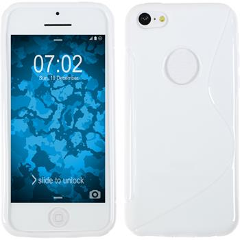 Silicone Case for Apple iPhone 5c S-Style logo white