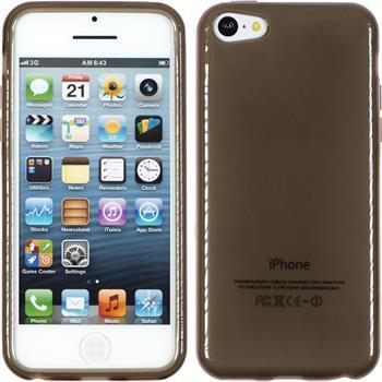 Silicone Case for Apple iPhone 5c transparent black