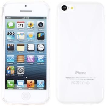 Silicone Case for Apple iPhone 5c X-Style transparent