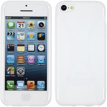 Silicone Case for Apple iPhone 5c X-Style white