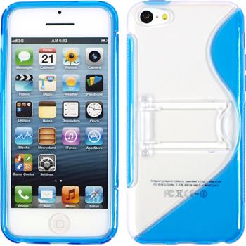 Silicone Case for Apple iPhone 5c stand function blue