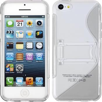 Silicone Case for Apple iPhone 5c stand function gray