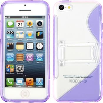 Silicone Case for Apple iPhone 5c stand function purple