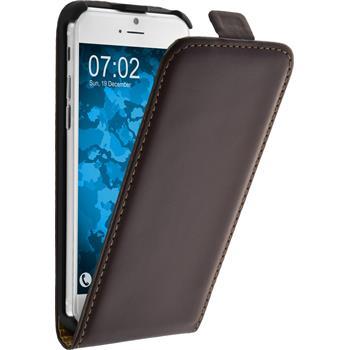 Kunst-Lederhülle iPhone 6s / 6 Flip-Case braun