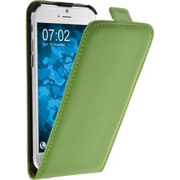 Kunst-Lederhülle iPhone 6s / 6 Flip-Case grün + 2 Schutzfolien
