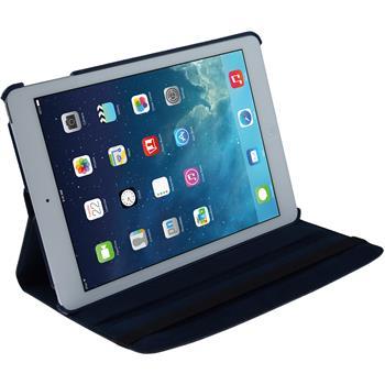 Kunst-Lederhülle iPad Air 360° blau