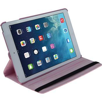 Kunst-Lederhülle iPad Air 360° rosa + 2 Schutzfolien