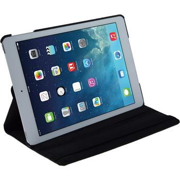 Kunst-Lederhülle iPad Air 360° schwarz