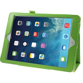 Artificial Leather Case for Apple iPad Air Wallet green