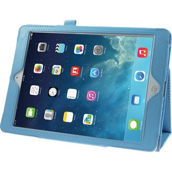 Artificial Leather Case for Apple iPad Air Wallet light blue