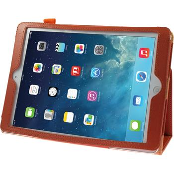 Artificial Leather Case for Apple iPad Air Wallet orange