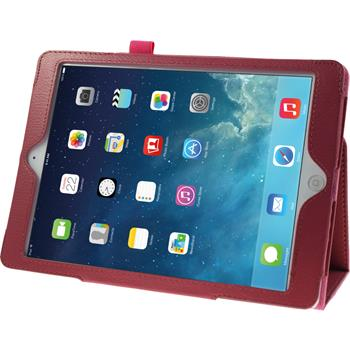 Artificial Leather Case for Apple iPad Air Wallet hot pink