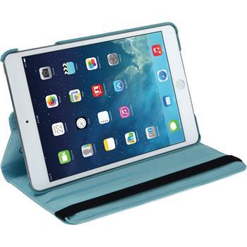 Kunst-Lederhülle iPad Mini 3 2 1 360° hellblau