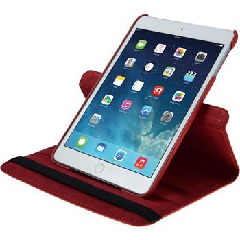 Kunst-Lederhülle iPad Mini 3 2 1 360° rot