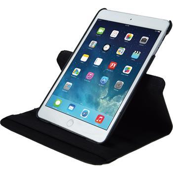 Kunst-Lederhülle iPad Mini 3 2 1 360° schwarz