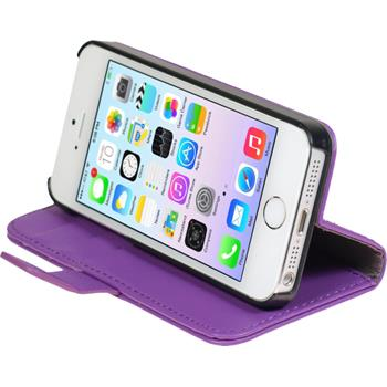 Artificial Leather Case for Apple iPhone 5 / 5s Premium purple