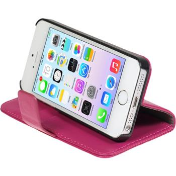 Kunst-Lederhülle iPhone 5 / 5s / SE Premium pink