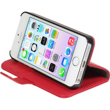 Artificial Leather Case for Apple iPhone 5 / 5s Premium red