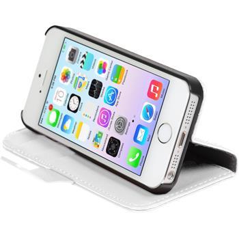 Kunst-Lederhülle iPhone 5 / 5s / SE Premium weiß