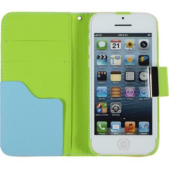 Artificial Leather Case for Apple iPhone 5c Wallet Design:01