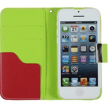 Kunst-Lederhülle iPhone 5c Wallet Design:02