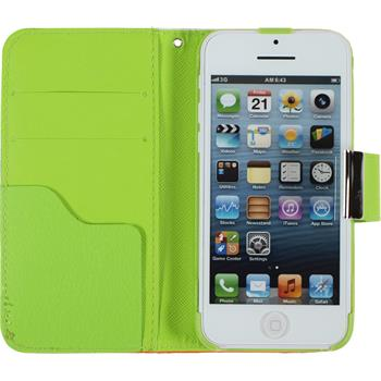 Artificial Leather Case for Apple iPhone 5c Wallet Design:05
