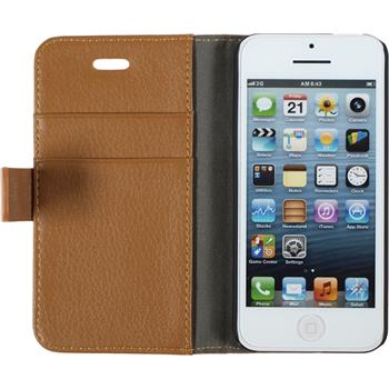 Kunst-Lederhülle iPhone 5c Premium braun