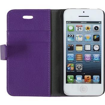 Kunst-Lederhülle iPhone 5c Premium lila