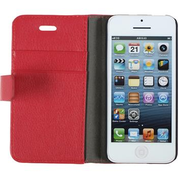 Artificial Leather Case for Apple iPhone 5c Premium red