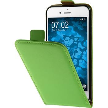 Kunst-Lederhülle iPhone 7 Flip-Case grün