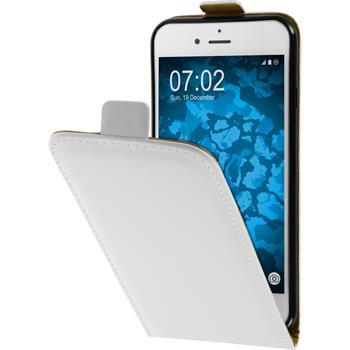 Kunst-Lederhülle iPhone 7 Flip-Case weiß
