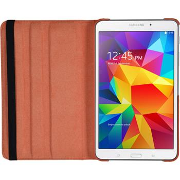 Artificial Leather Case for Samsung Galaxy Tab 4 8.0 360° orange
