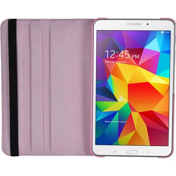 Artificial Leather Case for Samsung Galaxy Tab 4 8.0 360° pink