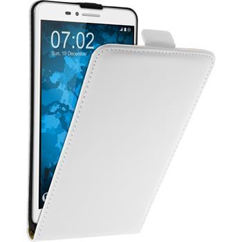 Kunst-Lederhülle für Huawei Honor 5X Flip-Case weiß + 2 Schutzfolien