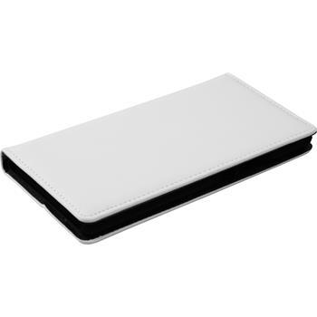 Kunst-Lederhülle P9 Lite Book-Case weiß