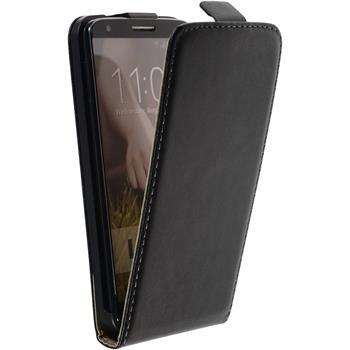 Kunst-Lederhülle G2 Flip-Case schwarz