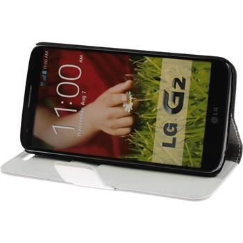 Artificial Leather Case for LG G2 Premium white