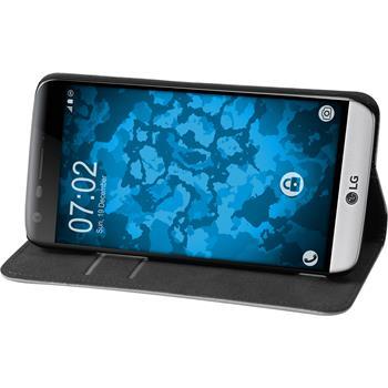 Kunst-Lederhülle für LG G5 Book-Case weiß Case