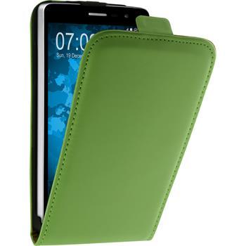 Kunst-Lederhülle für LG L Bello 2 / L Bello II Flip-Case grün + 2 Schutzfolien