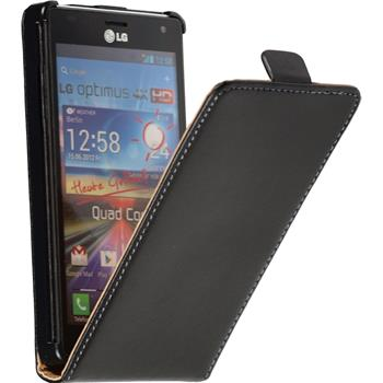 Artificial Leather Case for LG Optimus 4X HD P880 Flipcase black