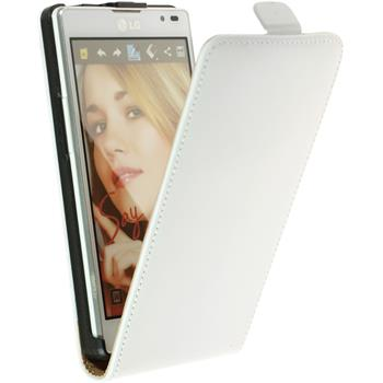 Artificial Leather Case for LG Optimus L9 Flipcase white